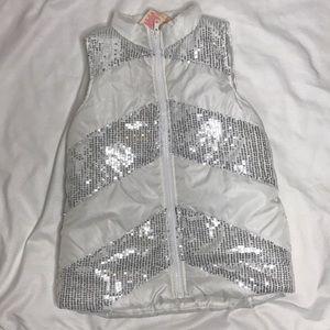 Girls sparkly puffy vest